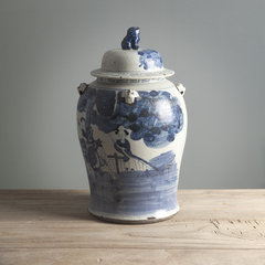 Ваза декоративная Династия Минг синяя от Roomers