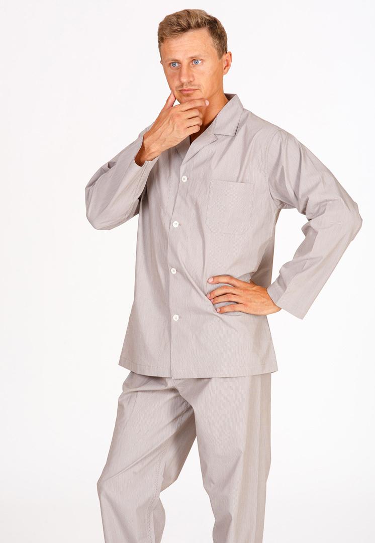 Бежевая мужская пижама B&B (Домашние костюмы и пижамы)