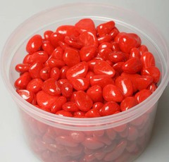 1788-красная Галька цветная 8-12мм по 350г в упак