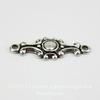 Винтажный декоративный элемент - коннектор (1-1) 20х8 мм (оксид серебра) ()