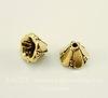 """Шапочка - конус для бусины маленькая TierraCast """"Колокольчик"""" 8х5 мм (цвет-античное золото)"""