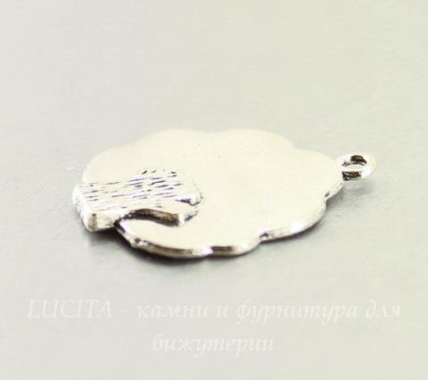 "Подвеска ""Дерево"" (цвет - античное серебро) 27х23 мм"