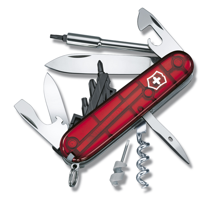 Швейцарский нож Victorinox CyberTool, 91 мм, 29 функ, красный полупрозрачный  (1.7605.T)