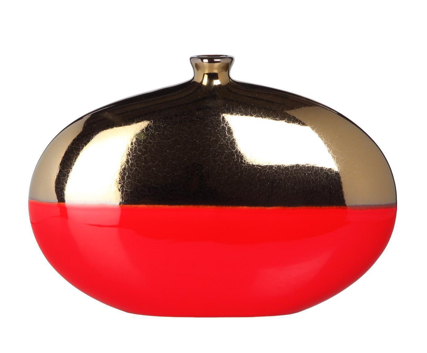 Элитная ваза декоративная черно-красная от Farol