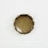 Сеттинг - основа для камеи или кабошона 7 мм (оксид латуни) ()