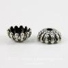 Винтажный декоративный элемент - шапочка 7х3 мм (оксид серебра)