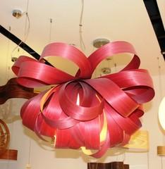 люстра Agatha Suspension Light ( 70 см , бордовая )