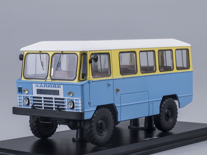GAZ-66 AMS-66 Army Bus yellow-blue 1:43 Start Scale Models (SSM)
