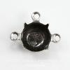 Сеттинг - основа - коннектор (1-2) для страза 8 мм (40 ss) (оксид серебра) ()
