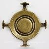 """Сеттинг - основа """"Черепашка"""" для камеи или кабошона 16 мм (оксид латуни) ()"""