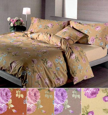 Постельное белье 2 спальное евро Caleffi Rose ваниль