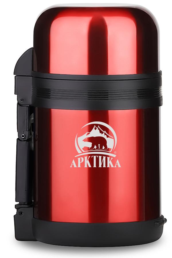 Термос универсальный (для еды и напитков) Арктика (0,8 л.) с широким горлом, красный