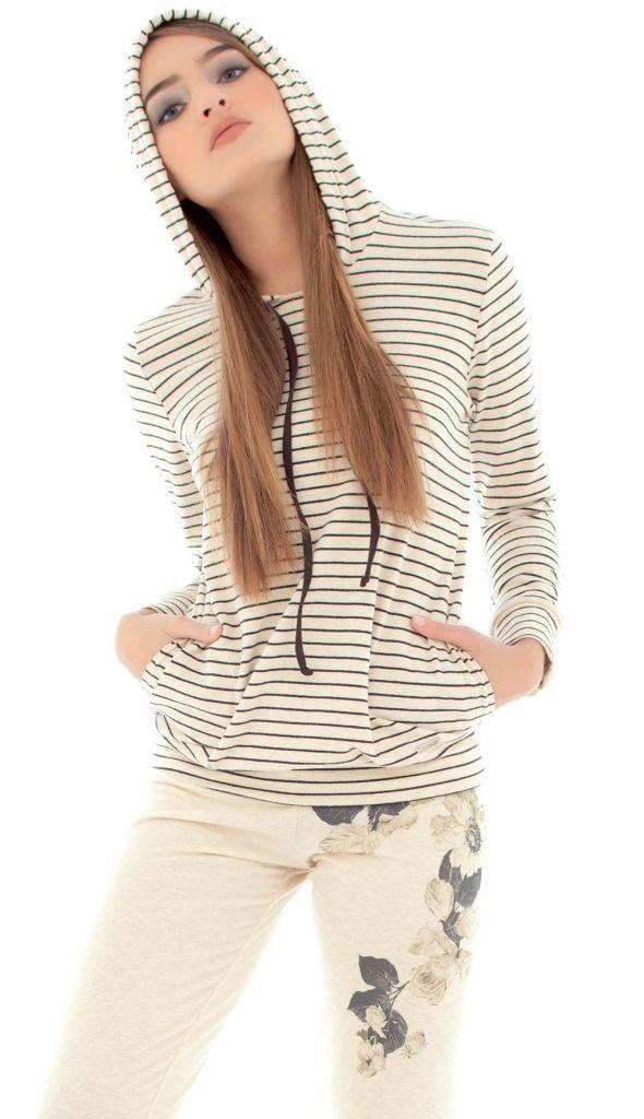 Стильный домашний костюм с капюшоном Rebecca & Bros