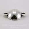 Сеттинг - коннектор (1-1) для страза 8 мм (цвет - античное серебро) 15х11 мм