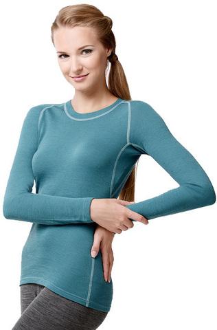 Термофутболка Norveg Soft Shirt женская с длинным рукавом голубая