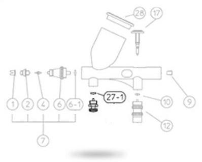 Уплотнение дополнительного воздушного регулятора Micro Air Control (MAC), О-образная (AH/BH/CH/CM-CP
