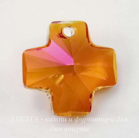 6866 Подвеска Сваровски Крестик Crystal Astral Pink (20 мм)