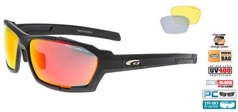 Спортивные очки goggle линия CLIZZ black/red