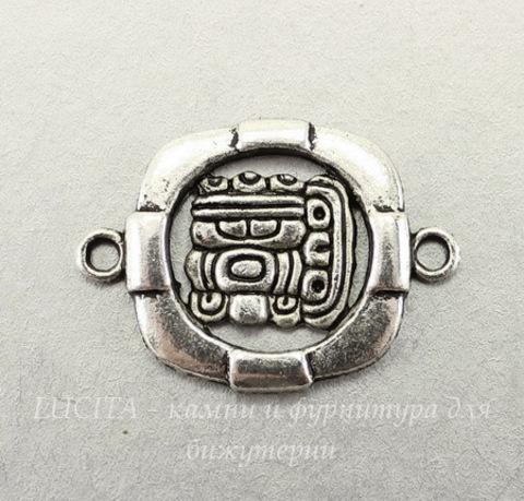 "Коннектор ""Майя"" (1-1) 31х22 мм (цвет - античное серебро)"