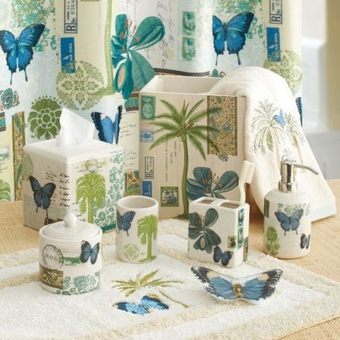 Стакан для зубной пасты Butterfly Palm от Croscill Living