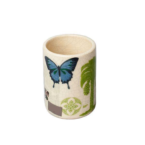 Стаканы для пасты Стакан для зубной пасты Butterfly Palm от Croscill Living stakan-dlya-zubnoy-pasty-butterfly-palm-ot-croscill-living-ssha.jpg