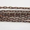Винтажная цепь (звено 4х2 мм) (оксид меди), 10 cм ()