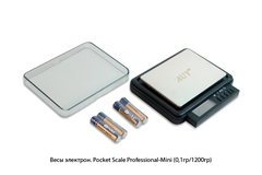 Весы электронные Pocket Scale Professional-Mini (0,1гр/1200гр)