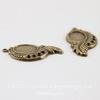 Сеттинг - основа - подвеска для камеи или кабошона 10х8 мм (оксид латуни), пара ()