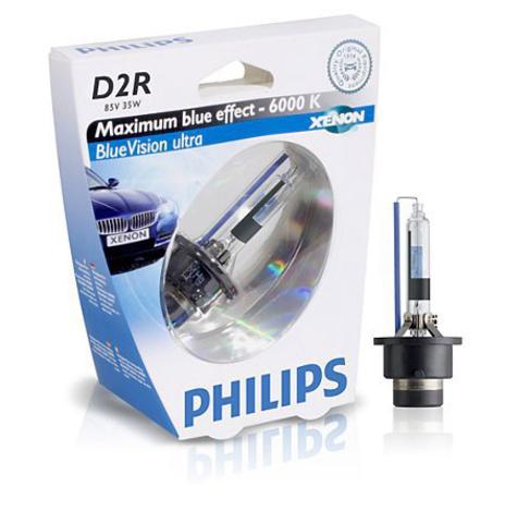 Лампа ксенон D2R (6000К) Philips BlueVision Ultra (блистер)