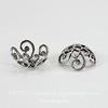 Винтажный декоративный элемент - шапочка 10х4 мм (оксид серебра) ()