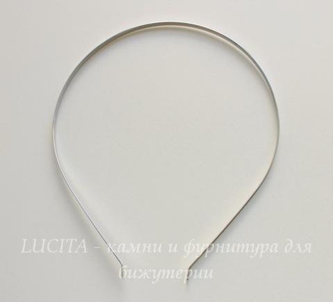 Ободок для волос 4 мм (цвет - платина)