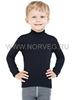 Терморубашка из шерсти мериноса Norveg Soft City Style Black детская