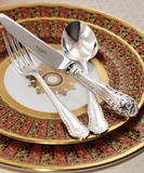 Royal Buckingham cтоловые приборы с серебряным покрытием Gadroon на 6 персон 43 предмета
