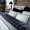 Постельное белье 2 спальное евро Casual Avenue Toscana с синей и красной вышивкой