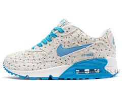 Кроссовки женские Nike Air Max 90 Sky Blue Flower