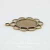 Сеттинг - основа - подвеска для камеи или кабошона 10х8 мм (оксид латуни)