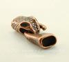 "Замок - крючок из 2х частей для плоского шнура ""Змея"" (цвет - античная медь) 43х17 мм"