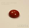 Кабошон круглый Яшма красная 8х4 мм