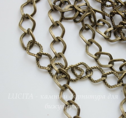 Цепь (цвет - античная бронза) 9х7 мм, примерно 10 м