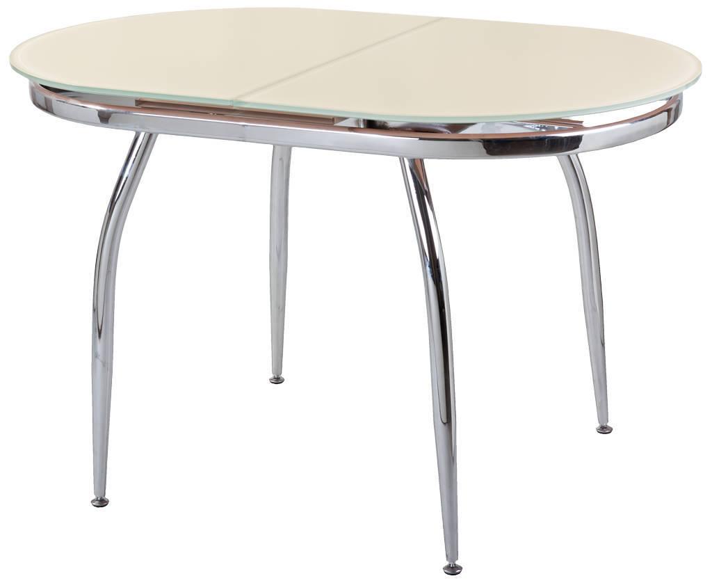 Стеклянный обеденный стол на кухню  магазине
