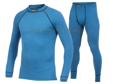 Комплект термобелья Craft Active мужской blue