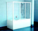 Шторка на ванну Ravak AVDP3-120 + APSV-70 стекло 120x70