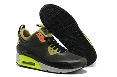Кроссовки Мужские Nike Air Max 90 MID Dark Grey Orange Yellow