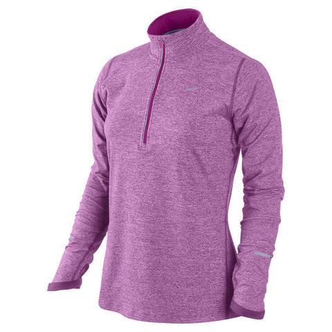 Футболка Nike Element H/Z (W) /Рубашка беговая сиреневая