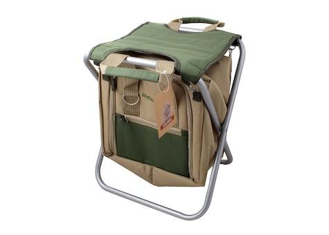 Сумка-холодильник (термосумка) Арктика со складным стулом, 20 л. (бежевая/зеленая)