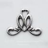 Винтажный декоративный элемент - штамп 20х15 мм (оксид серебра)