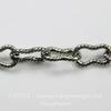 """Винтажная цепь """"Peanut"""" (звено 7,5х4 мм) (оксид серебра) , 10 cм ()"""