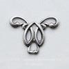 Винтажный декоративный элемент - штамп 20х15 мм (оксид серебра) ()