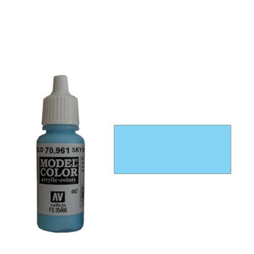 067. Краска Model Color Небесный Голубой 961 (Sky Blue) укрывистый, 17мл
