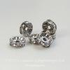 77509 Бусина - рондель Сваровски Crystal (цвет - античное серебро) 9х4 мм ()